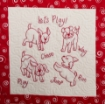 It's A Dog's Life Hand Embroidery Pattern