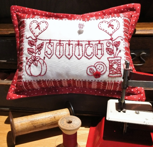 Picture of Stitch Banner Hand Embroidery Pin Cushion