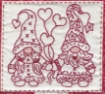 Gnomes In Love - Machine Embroidery Pattern