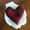 Wooly Valentine Heart - Wool Applique Pin Cushion