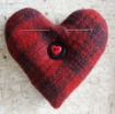 Picture of Wooly Valentine Heart - Wool Applique Pin Cushion - Download