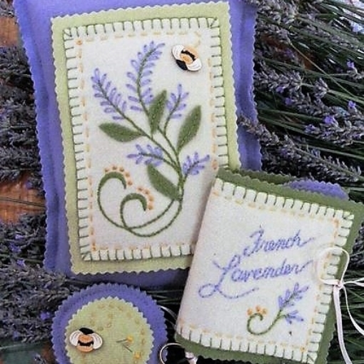 Picture of French Lavender Pin Cushion Set