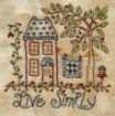 Picture of Live Simply - Machine Embroidery Pattern