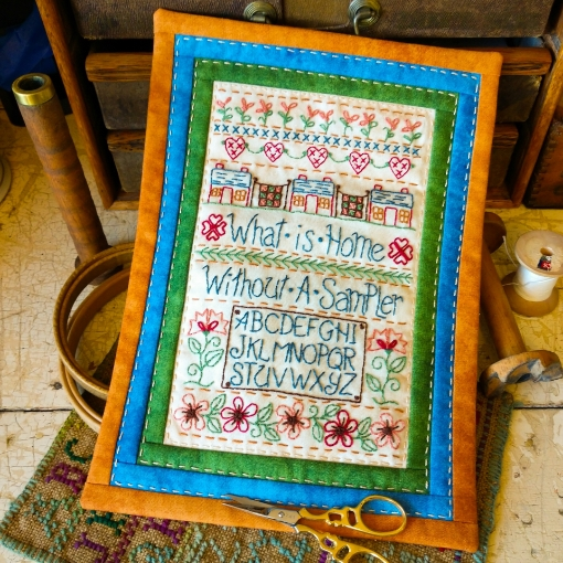 Home Sampler - Hand Embroidery Complete Kit