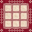 Home and Heart RedWork Quilt - Fabric Pack