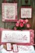 Spring Garden RedWork Hand Embroidery Pattern