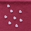 """Picture of Pink Mini 1/2"""" Heart Buttons"""