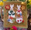 Picture of Woolen Bunny Garden - Wool Applique Pattern - Download