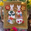Picture of Woolen Bunny Garden - Wool Applique Pattern - Shipped