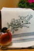 Feathered Family Tea Towel - Hand Embroidery Pattern