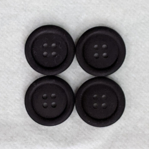 Picture of Black 4 Hole Buttons (Pack of 4)