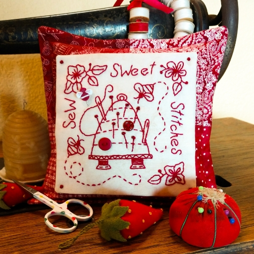 Picture of Sew Sweet Stitches Pin Cushion - Machine Embroidery Pattern
