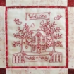 Picture of Home and Heart RedWork Quilt - Machine Embroidery Pattern - Download