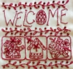 Welcome Spring Door Sign - Hand Embroidery Complete Kit
