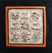 Halloween Motifs Sampler Pillow - Hand Embroidery Complete Kit