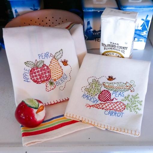 Farmers Market Tea Towels Embroidery Kit