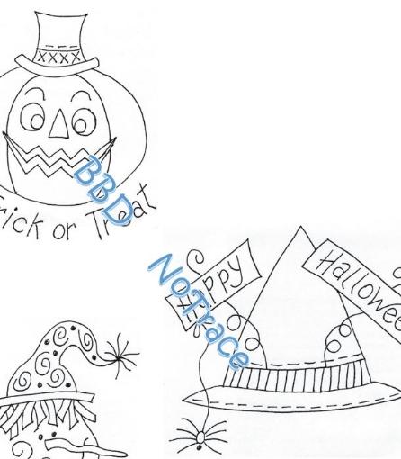 403 - Happy Halloween Tea Towels - BBD No-Trace