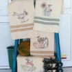Picture of Harvest Tea Towels - Hand Embroidery