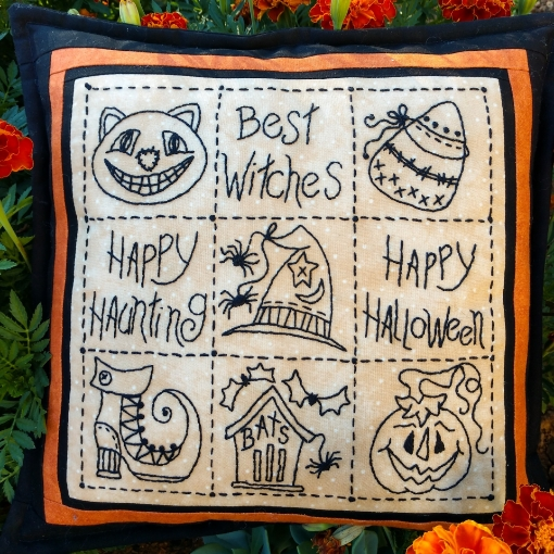 Halloween Sampler Pillow - Machine Embroidery Pattern