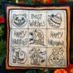 Halloween Sampler Pillow - BBD No-Trace