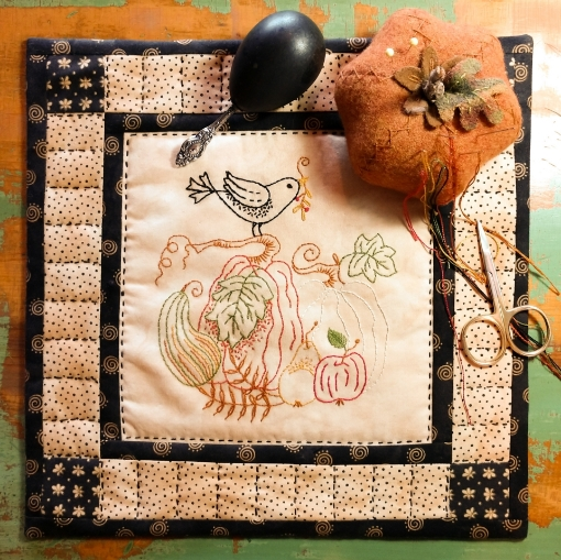 Autumn Harvest Hand Embroidery Complete Kit