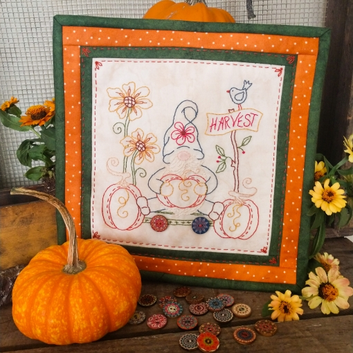 Harvest Gnome - Machine Embroidery Pattern